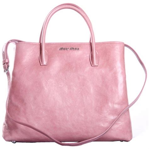 Girly Pink Miu Miu Tote by Authentic Miu Miu Leather Tote Rn1000 Light Pink At
