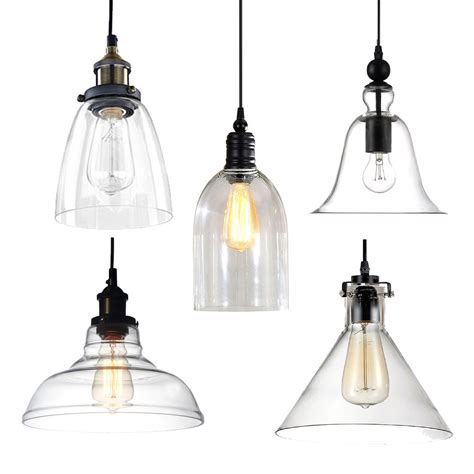 Industrial Glass Pendant Lights Industrial Modern Diy Ceiling L Light Glass Pendant Lighting Edison Bulbs Ebay