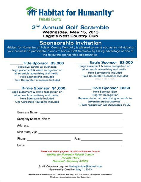 Hfh Golf Scramble Sponsorship Flyer 2013 Somerset Pulaski Chamber Sponsor Flyer Templates