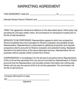 Promotion Agreement Template marketing agreement template 6 download free documents