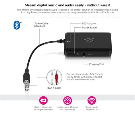 Universal Stereo Audio Bluetooth Transmitter istream universal bluetooth audio receiver aluratek