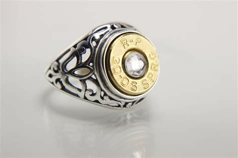 sterling silver bullet ring bullet jewelry for