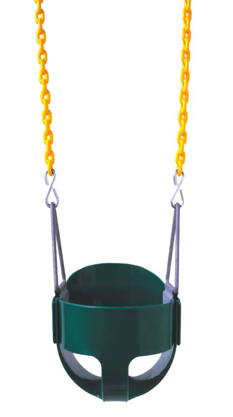 full bucket swing seat residential full bucket swing seat with 5 6 quot plastisol