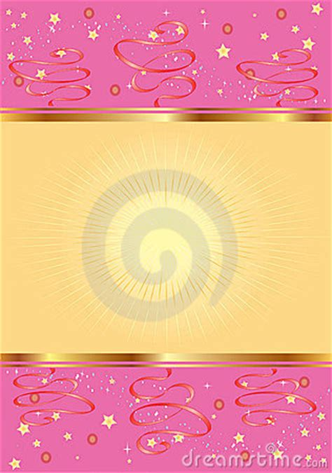 pink background  gold  stars stock  image