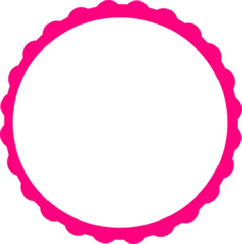 circles free clip free clip on free scalloped white circle frame png clipart best