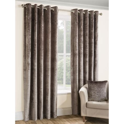 velvet eyelet curtains belfield furnishings opulence praline crushed velvet