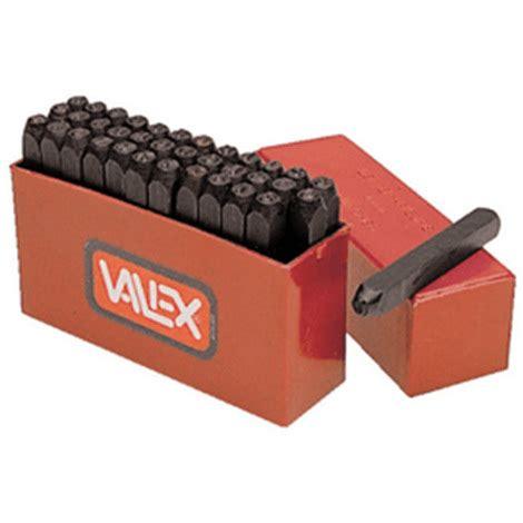 punzoni lettere punzoni lettere e numeri in kit 1980328 valex