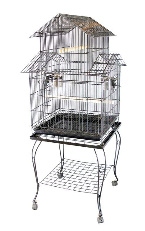 gabbia grande per uccelli foxhunter in metallo grande gabbia per uccelli con