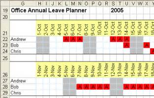 Staff Annual Leave Calendar Template by How To Create A Planner In Excel