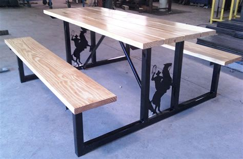 steel picnic table custom picnic tables