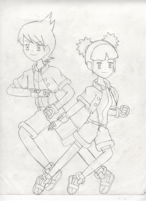 pokemon ranger coloring pages pokemon ranger kellyn and kate by kate621 on deviantart