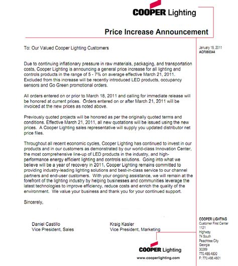 Raise Rates Letter best photos of letter for raising prices rate increase