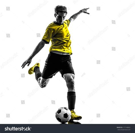 background player one soccer football player stock photo