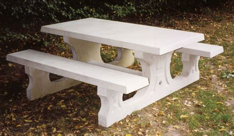 concrete picnic table standard heblad