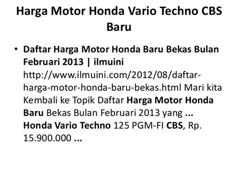 Slide Ahm Kwn Vario 125 Vario 150 Slide Honda Asli daftar harga vario techno html autos post