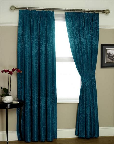teal bird curtains new luxury mirabel floral jacquard lined pencil pleat