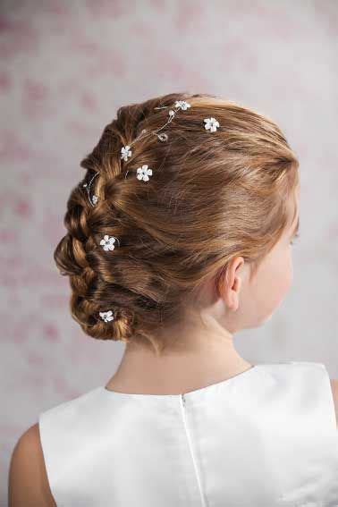girl hairstyles vine communion hair vine flowers and beaded hair wire for