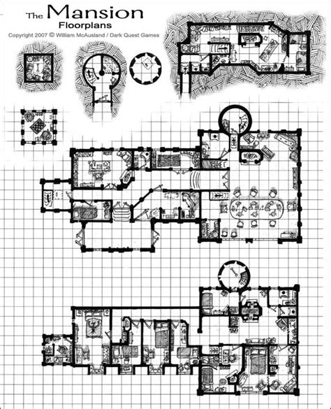 Rpg Floor Plans | medieval fantasy mansion floor plan by william mcausland