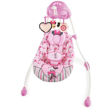 baby girl swings at walmart minnie mouse precious petals swing disney baby