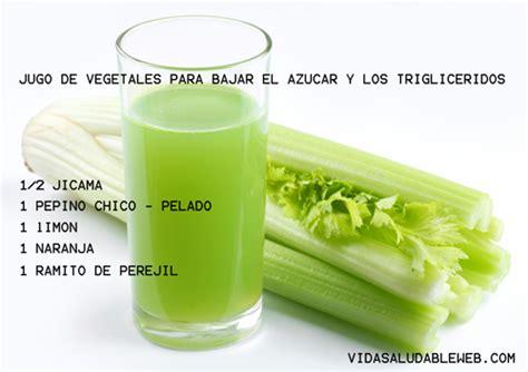 alimentos que ayudan a bajar los trigliceridos jugo de vegetales para bajar el azucar y los trigliceridos