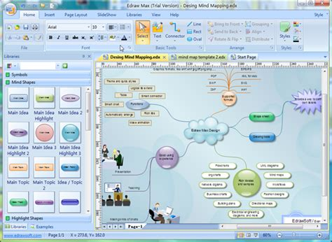 software for map drawing free mind map software edraw mind map freeware