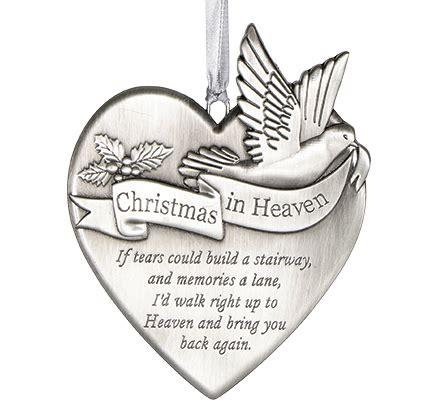 christmas  heaven memorial ornament