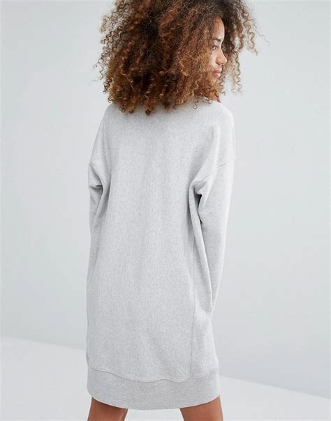Hoodie Supreme Bristle Script Text Wash Tag lyst chion oversized sweat dress with script logo in gray