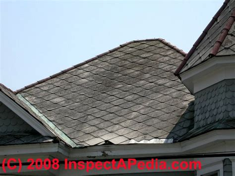 diamond pattern roof tiles asbestos identification photo guide to building materials