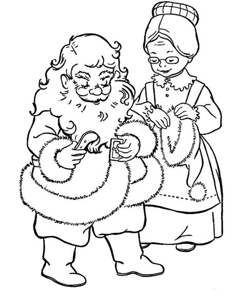 coloring pages of santa and mrs claus mrs claus coloring pages az coloring pages