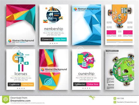 infographics brochure layout set of flyer design infographics brochure designs