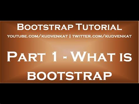 bootstrap tutorial in youtube bootstrap tutorial for beginners youtube