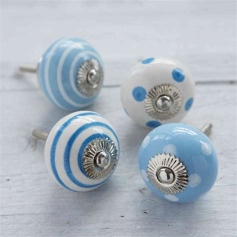 Blue Knobs by Blue Decorative Ceramic Cupboard Door Knobs By Pushka Home