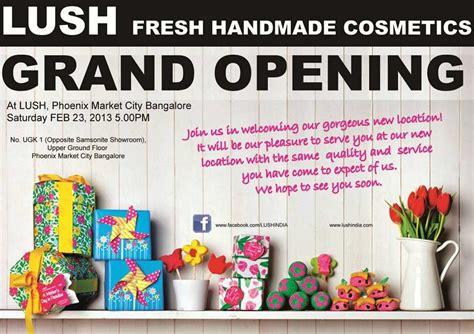 Lush Handmade Cosmetics India - lush fresh handmade cosmetics store grand opening at