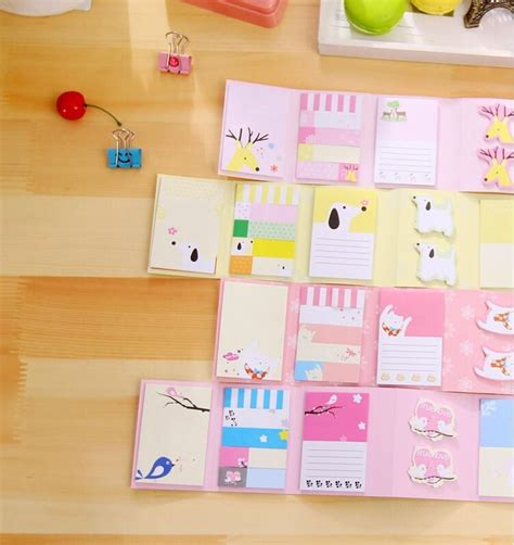 Stick Note Memo Lipat 6 Animal Faily Tables Zoo 24 pcs lot 6 fold sticky notes post it message