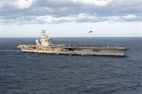 portaerei usa primi raid dalla portaerei usa nel mediterraneo