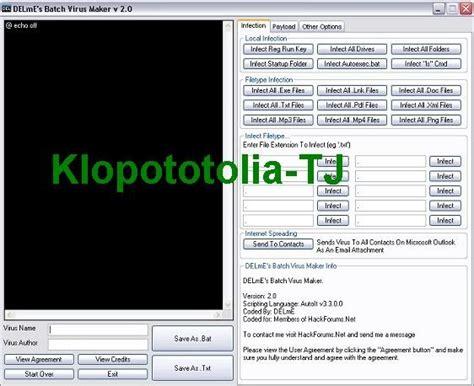 membuat virus batch delme s batch virus maker v2 0 klopototolia tj