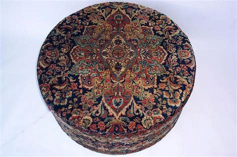 large round ottomans for sale large round persian carpeted ottoman for sale antiques