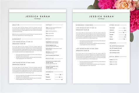 standout resume templates sample resume cover letter format