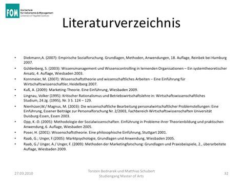 Muster Quellenverzeichnis Wissenschaftliche Aussagen