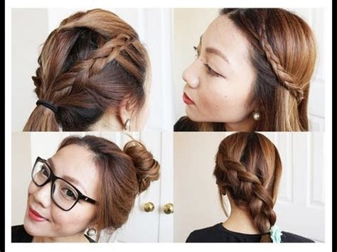 easy hairstyles for thick hair school hairstyles