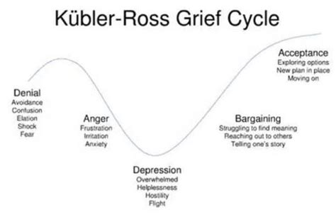 cycle of grief diagram when change feels like a white knuckle ride linkedin