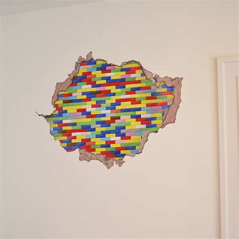 lego stickers for wall lego wall sticker house made of lego home garden