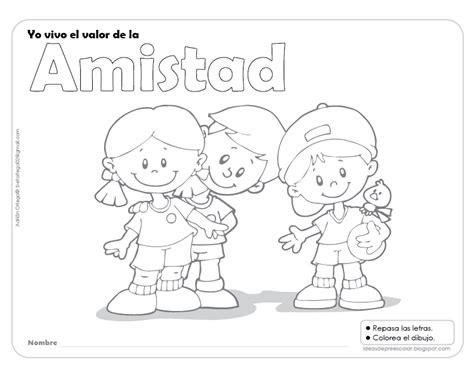 imagenes para colorear sobre la amistad del valor de la amistad para colorear imagui