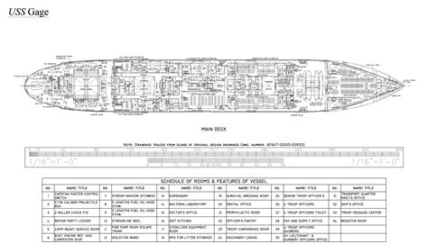 ship floor plan victory ship u s s gage the model shipwright