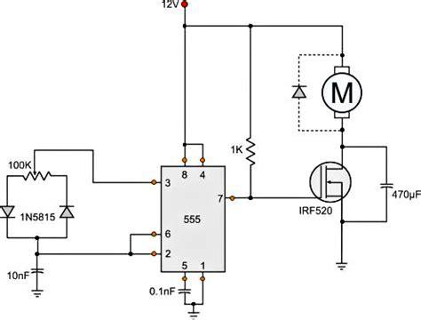 speed of a dc motor using pwm circuit diagram for dc motor speed using pwm