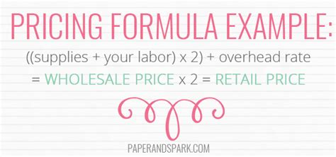 How To Price Your Handmade Items - pricing handmade goods re examining your price formula