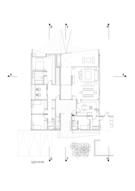 dsc floor plan dsc house estudio leyton archdaily