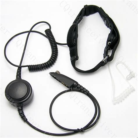 Headset Ht Motorola Kabel Lurus Limited noise cancel throat mic earpiece large ptt button for