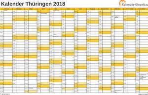 Kalender 2018 Nrw Arbeitstage Feiertage 2018 Th 252 Ringen Kalender