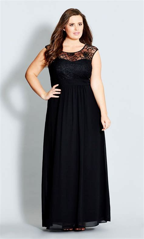 Trend Black Lace Goes Chic by 5 Ways To Wear A Plus Size Black Maxi Dress Curvyoutfits